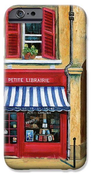 Store iPhone Cases - Little French Book Store iPhone Case by Marilyn Dunlap