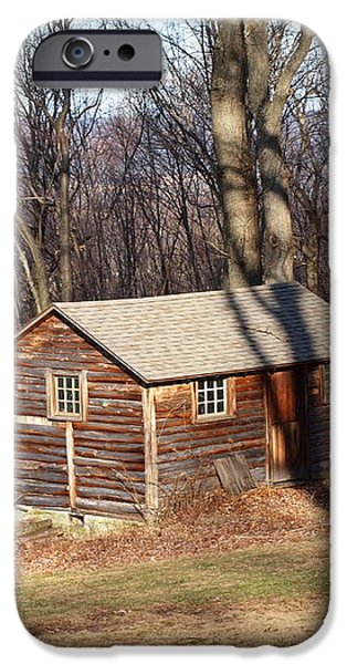 little house in the woods iPhone Case by Robert Margetts