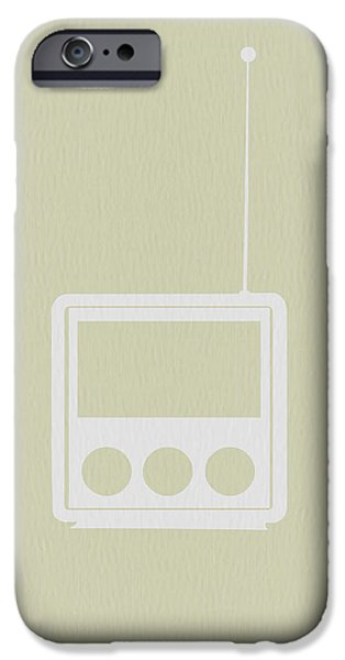 Modernism iPhone Cases - Little Radio iPhone Case by Naxart Studio
