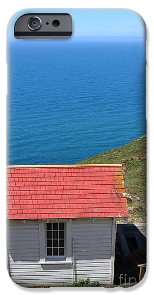 Little Shack At The Point Reyes Lighthouse in California . 7D16020 iPhone Case by Wingsdomain Art and Photography