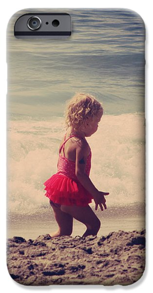 Little Girl iPhone Cases - Little Tutu iPhone Case by Laurie Search