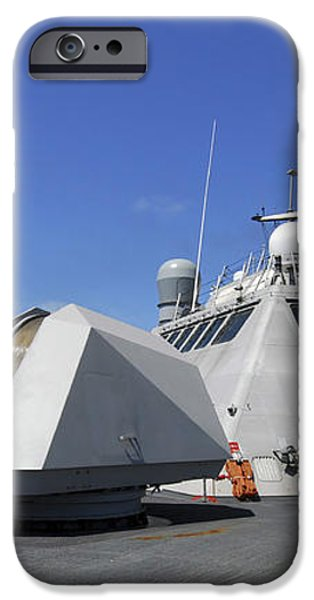 Littoral Combat Ship Uss Freedom iPhone Case by Stocktrek Images