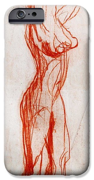 Model Drawings iPhone Cases - Live Model Study 1 iPhone Case by Mona Edulesco