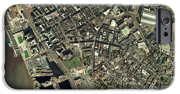 Port Town iPhone Cases - Liverpool, Uk, Aerial Image iPhone Case by Getmapping Plc