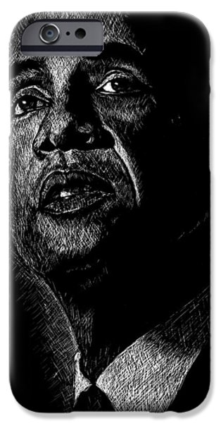 Obama iPhone Cases - Living the Dream iPhone Case by Maria Arango