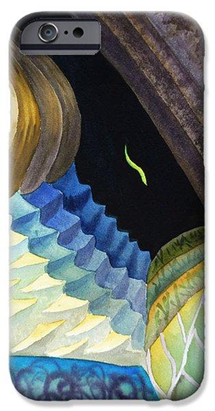 Reptile Paintings iPhone Cases - Lizard Skin Abstract II iPhone Case by Irina Sztukowski