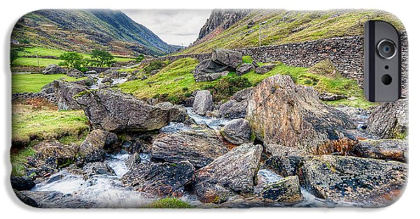 Buildings Digital Art iPhone Cases - Llanberis Pass iPhone Case by Adrian Evans