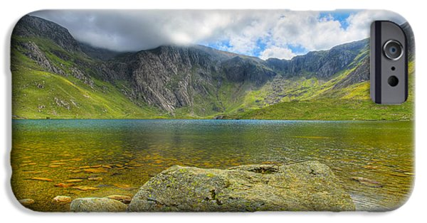 Plants Digital iPhone Cases - Llyn Idwal iPhone Case by Adrian Evans