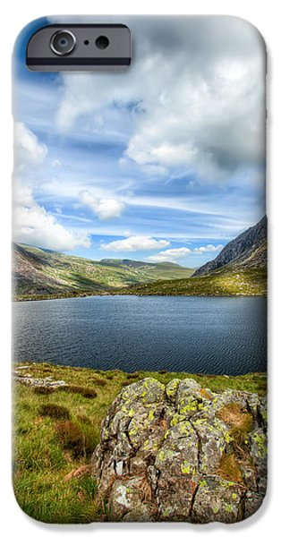 Plants Digital iPhone Cases - Llyn Idwal Lake iPhone Case by Adrian Evans