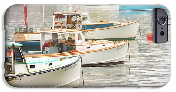 Maine iPhone Cases - Lobster Boats In Bass Harbor Mount Desert Island Maine Photo  iPhone Case by Keith Webber Jr