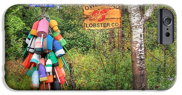 Maine Roads iPhone Cases - Lobster Lane iPhone Case by Lori Deiter