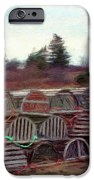 Lobster Traps iPhone Case by Jeff Kolker