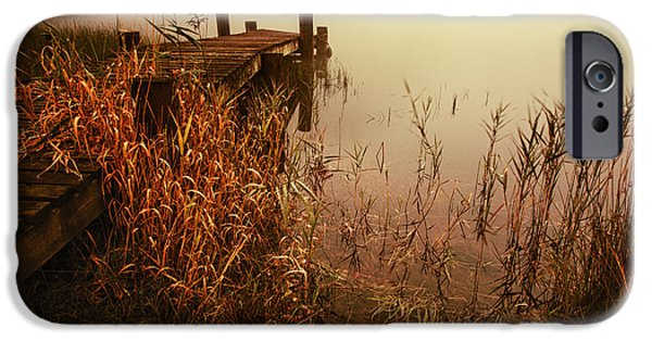 Colour Image iPhone Cases - Loch Ard early mist  iPhone Case by John Farnan
