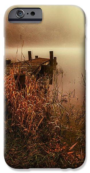 Loch Ard early morning mist iPhone Case by John Farnan