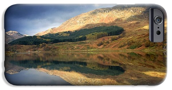 Design Pics - iPhone Cases - Loch Lobhair, Scotland iPhone Case by John Short