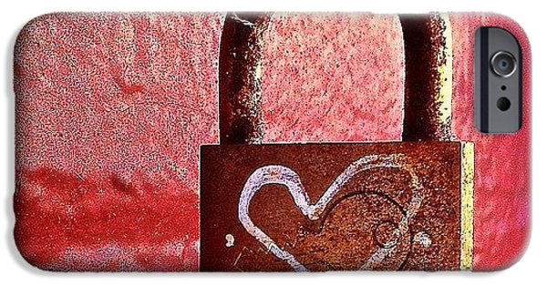 Lock/heart iPhone Case by Julie Gebhardt
