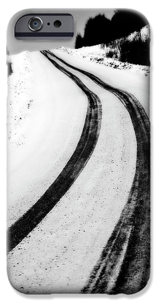 logging road in winter iPhone Case by Mark Duffy