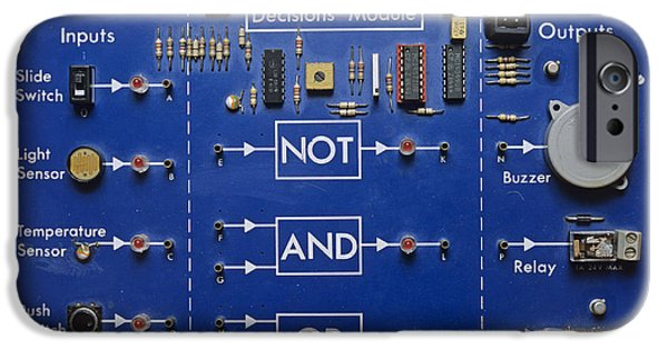 Resistor iPhone Cases - Logic Gates iPhone Case by Andrew Lambert Photography