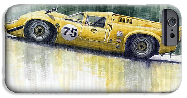Racing iPhone Cases - Lola T70 iPhone Case by Yuriy  Shevchuk