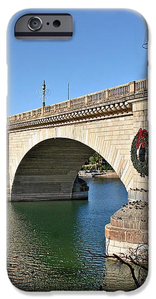 London Bridge Lake Havasu City - The World's Largest Antique iPhone Case by Christine Till