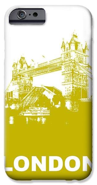 London Bridge Poster iPhone Case by Naxart Studio
