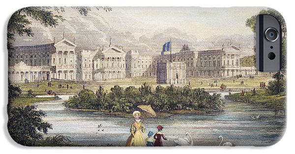 1840 iPhone Cases - London: Buckingham Palace iPhone Case by Granger
