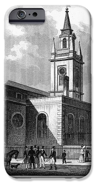 LONDON: CHURCH, c1830 iPhone Case by Granger