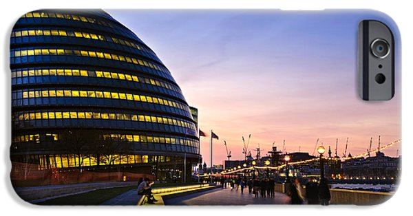 United iPhone Cases - London city hall at night iPhone Case by Elena Elisseeva