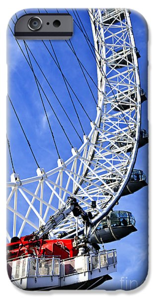 Capsule iPhone Cases - London Eye iPhone Case by Elena Elisseeva