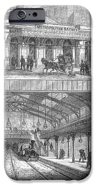 LONDON: RAILWAY, 1876 iPhone Case by Granger