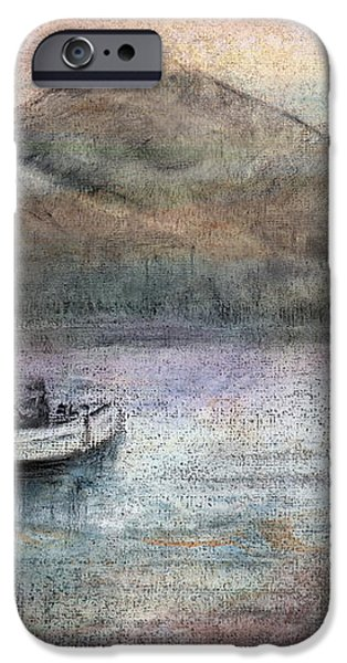 Lone Fisherman iPhone Case by Arline Wagner