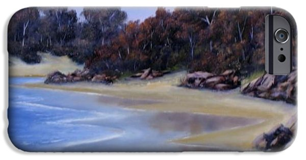 Beach Reliefs iPhone Cases - Lonely Beach iPhone Case by John Cocoris