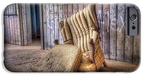 Cushions iPhone Cases - Lonely Chair iPhone Case by Scott Norris