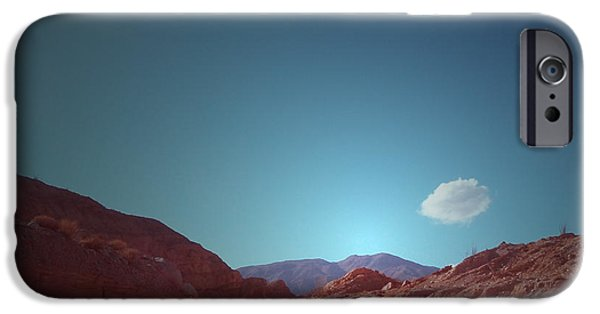Outdoors iPhone Cases - Lonely Cloud iPhone Case by Naxart Studio