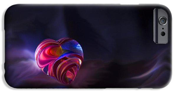 Jewelry Greeting Cards iPhone Cases - Lonely Heart iPhone Case by Steven Richardson