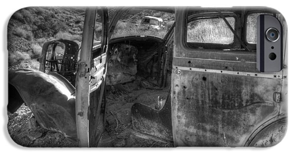 Rusted Cars iPhone Cases - Long Forgotten iPhone Case by Bob Christopher