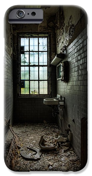Abandonment iPhone Cases - Long Narrow Lavatory iPhone Case by Gary Heller