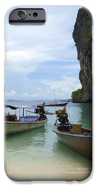 Long Tail Boats Thailand iPhone Case by Bob Christopher