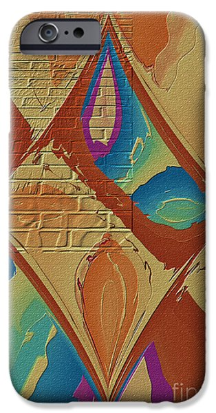 Abstract Digital Photographs iPhone Cases - Look Behind The Brick Wall iPhone Case by Deborah Benoit