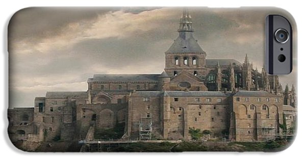 Buildings Mixed Media iPhone Cases - Look Over The Land iPhone Case by Debra     Vatalaro