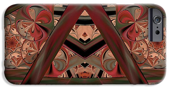 Abstract Expressionism iPhone Cases - Look Within - Abstract iPhone Case by Georgiana Romanovna