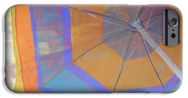 Umbrella Pastels iPhone Cases - Looking Up iPhone Case by Katherine  Berlin