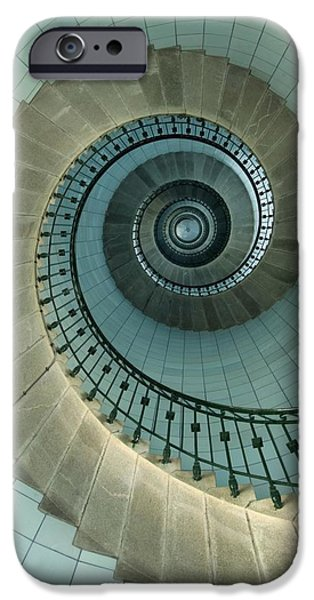 Recently Sold -  - Built Structure iPhone Cases - Looking Up The Spiral Staircase Of The iPhone Case by Axiom Photographic