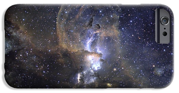 Astrophysics iPhone Cases - Loops Of Ngc 3576 iPhone Case by Ken Crawford
