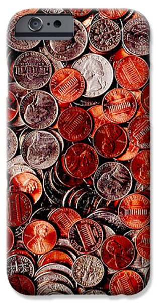 Loose Change . 2 to 1 Proportion iPhone Case by Wingsdomain Art and Photography