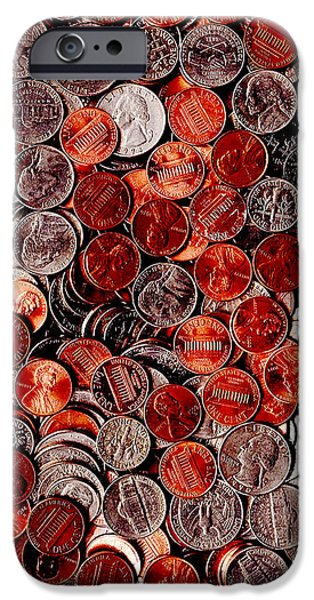 Loose Change . 8 to 10 Proportion iPhone Case by Wingsdomain Art and Photography