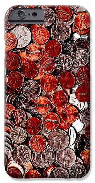 Loose Change . 9 to 12 Proportion iPhone Case by Wingsdomain Art and Photography