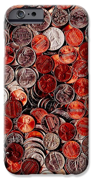 Loose Change . 9 to 16 Proportion iPhone Case by Wingsdomain Art and Photography