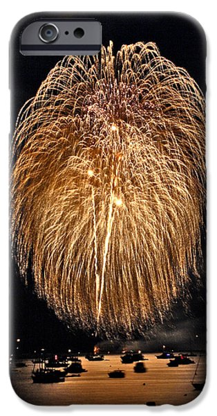 4th July iPhone Cases - Lopez Island Fireworks 1 iPhone Case by David Salter