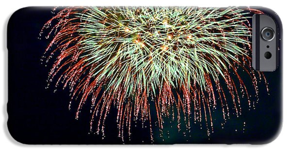 Fireworks iPhone Cases - Lopez Island Fireworks 10 iPhone Case by David Salter
